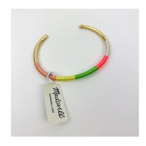 Madewell Neon Wrapped Cuff Bracelet
